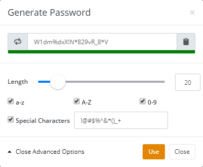 Password Generation Form